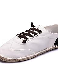 Women's Shoes Linen Fall Flats Flats Casual Flat Heel Others Black / Blue / White Walking