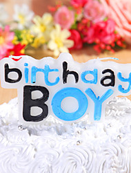 Party Decoration Happybirthday Birthday Candles Set (1 Piece) For Boys