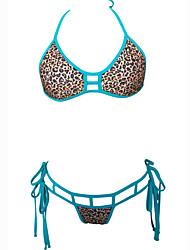 Bikinis Aux femmes Animal / Rétro Licou Nylon / Spandex
