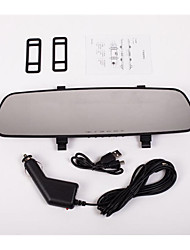 The White Lanjing Car Rearview Mirror Tachograph 1080P HD