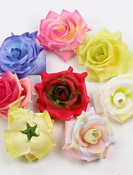 Simulation Floral Large Fragrant Roses Cloth Wreath Accessories Beautiful Artificial Flowers (Random Color)