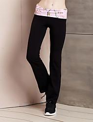 Women's Solid Black Straight Pants,Simple