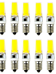 10pcs g9 / e14 cob 1led 2.5w 250-300lm chaud blanc / cool blanc ac 220v led bi-pin lights