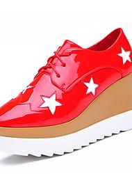 Homme-Habillé / Décontracté-Noir / Rouge-Talon Plat-Confort-Sneakers-Similicuir
