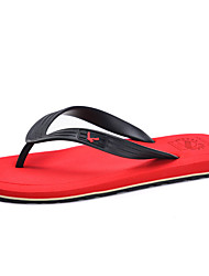 Men's Slippers & Flip-Flops Summer Flats PU Casual Flat Heel Others Black Brown Yellow Green Red Water Shoes