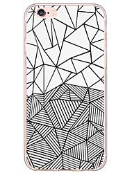Para iPhone X iPhone 8 iPhone 6 iPhone 6 Plus Carcasa Funda Ultrafina Traslúcido Cubierta Trasera Funda Diseño Geométrico Suave TPU para
