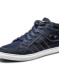 Femme-Décontracté / Sport-Noir / Marine-Talon Plat-Confort-Sneakers-Toile