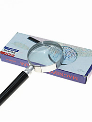 Handheld 7X 50mm Metal Round Glass Magnifier