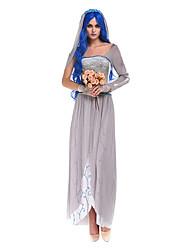 Costumes Ghost / Zombie / Vampires Halloween / Christmas / Carnival Gray Vintage Dress / Headwear / Bracelet/Bangle