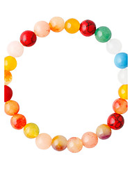 Strand Bracelets 1pc,Assorted Color Bracelet Fashionable Round 514 Alloy Jewellery
