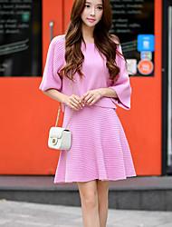 твердый розовый трикотажные юбки, марочные / мило выше колена dabuwawa женщин