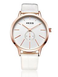 KEZZI® simple style white color band quarrz couple watch 1099A