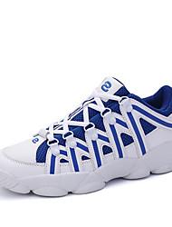 Femme-Décontracté / Sport-Bleu / Gris-Talon Plat-Confort-Sneakers-Tulle
