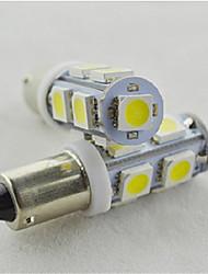 10pcs feux de position de voiture BA9S 9SMD 5050 conduit ampoule de lumière de la porte de la plaque d'immatriculation des blancs
