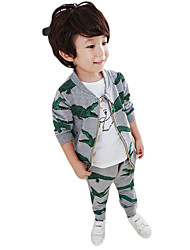 Boy's Casual/Daily Print Clothing Set,Cotton Winter / Fall Gray