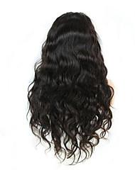 Natural Black Natural Wave Brazilian Virgin Hair Human Hair Wig Glueless Full Lace Human Hair Wigs With Baby Hair
