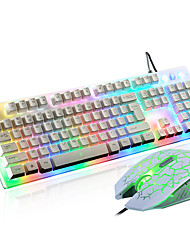 2400Dpi Wired USB  Game Keyboard & Mouse Suit For Desktop With LED