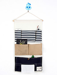 Six Pockets Behind The Door Navy style With Tissue Box Storage Bag