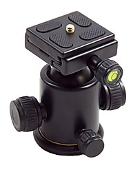 HY-3 Tilt Head Aluminium Alloy Ball Holder with Quick Release Plate for Digital Camera Max Load 5kg