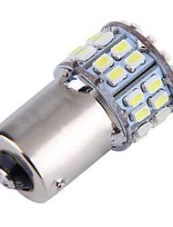 4pcs 1156 50smd 1206 do freio do carro reserse acende luzes de nevoeiro piscas estacionamento lâmpada branca (DC12V)