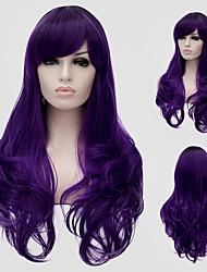 cheveux ondulés pourpre et le vent discothèque rue des performances couleur millions avec une perruque partielle.