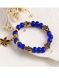 Strand Bracelets 1pc,Black / Blue Bracelet Vintage Star 514 Alloy Jewellery