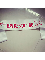 White Bride to be sash with star