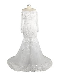 Trumpet / Mermaid Wedding Dress Court Train Sweetheart Lace with Appliques