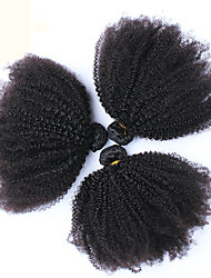 3 Pieces Kinky Curly Human Hair Weaves Mongolian Texture 100 10-26 Human Hair Extensions