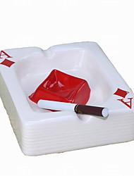 пепельницы моды creactive фарфора в стиле покера (цвет случайный)