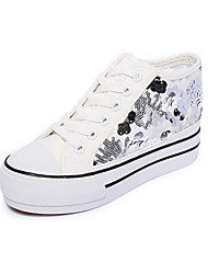 Women's Shoes Fabric Spring / Summer / Fall / Winter Comfort Sneakers Outdoor / Athletic Flat Heel Lace-up