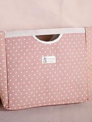 saco de algodão e linho pano ponto onda zakka (cor aleatória)