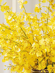"""1 Branch 1 Ramo Seda Orquideas Flor de Mesa Flores artificiais Total Length:35.5"""""""