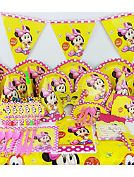 Luxury Minnie Baby 78pcs Birthday Party Decorations Kids Evnent Party Supplies Party Decoration 6 People use