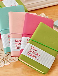 Smile Leather Diary Notebook Smiling Face Notepad (Random Color)