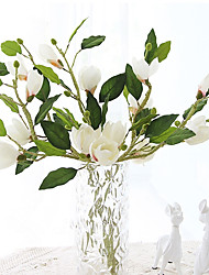 1 1 Ramo Seda Magnólia Flor de Mesa Flores artificiais 83cm