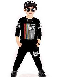 Boy's Cotton Spring/Autumn Fashion Cartoon Print Tracksuit Long Sleeve Shirt And Pants Sport Suit Two-piece Set