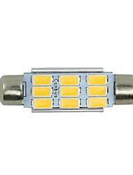 2x теплый белый гирлянда 42mm 5630 9SMD высокой мощности купол карту лицензионного грузового свет 578