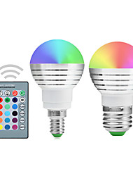 5W E14 / E26/E27 Bombillas LED de Globo A50 1 LED Integrado 300-450 lm RGB Regulable / Control Remoto / DecorativaAC 85-265 / AC 100-240