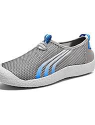 Masculino-TênisRasteiro-Cinza Azul Real-Tule-Para Esporte