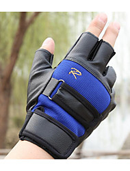 Male Sunscreen Non Slip Breathable Leather Fitness Semi Finger Tactical Gloves for Motorcycle and Bicycle