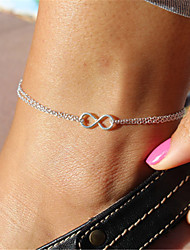 Fashion Infinity Charm Chain Anklet Foot Bracelet Beach Sandal Barefoot Jewelry Christmas Gifts