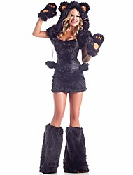 Cosplay Costumes Animal / Fairytale Movie Cosplay Black Solid Dress / Gloves / More Accessories / Hat Halloween / Christmas / New Year