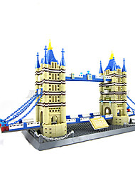 World Famous Building Series London Twin Bridge Simulation Model Building Block Assembly  Toys