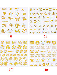 1PC Gold 3D Good Adhesion Safe Environmental Protection Nail Stickers