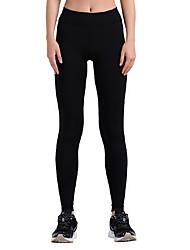 Pantalones de yoga Pantalones/Sobrepantalón Transpirable Compresión Cintura Media Eslático Ropa deportiva Mujer Yoga