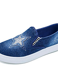 Women's Loafers & Slip-Ons Spring / Fall Comfort Canvas Outdoor / Casual Flat Heel Applique Blue Walking