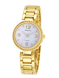REBIRTH® Women's Simple Fashion Alloy Strap Quartz Casual Wrist Watch