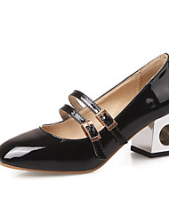 Women's Buckle Square Closed Toe Kitten Heels Solid Pumps-Shoes