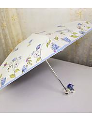 Azul / Rosa Guarda-Chuva Dobrável Sombrinha / Ensolarado e chuvoso / Chuva Metal / têxtil / SiliconeCarrinho / Crianças / Viagem / Lady /